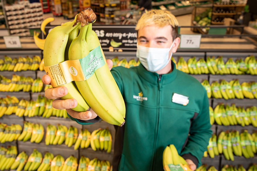 Morrisons bans plastic packaging from its bananas in a supermarket first