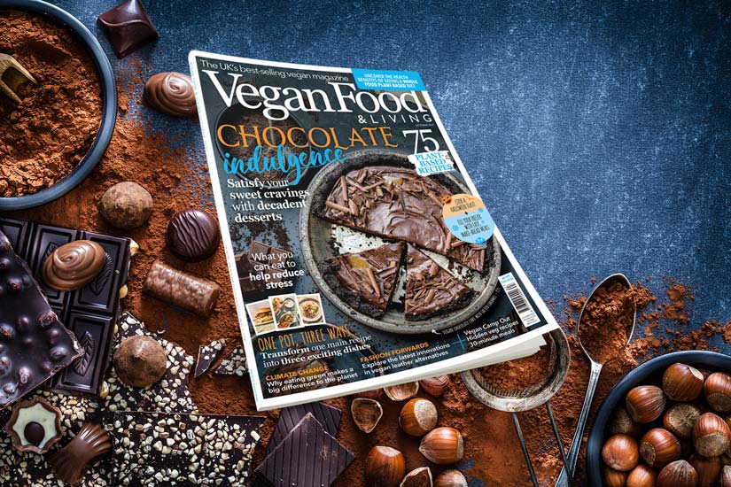 Indulge your inner chocoholic with the October issue of Vegan Food & Living!