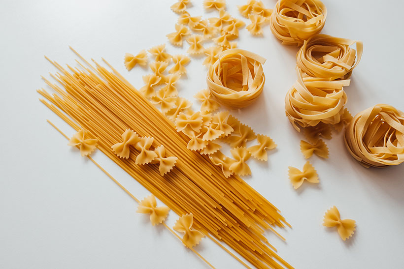 The majority of dried pasta you find in packets on supermarket shelves is vegan with the exception of lasagne sheets which can contain eggs