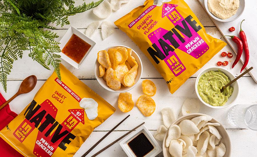Native Snacks launches first vegan prawn crackers in major UK retailer