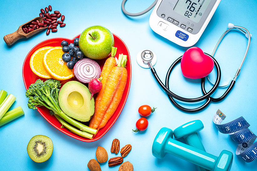 A healthy diet and lifestyle are key to lowering your blood pressure and maintain heart health