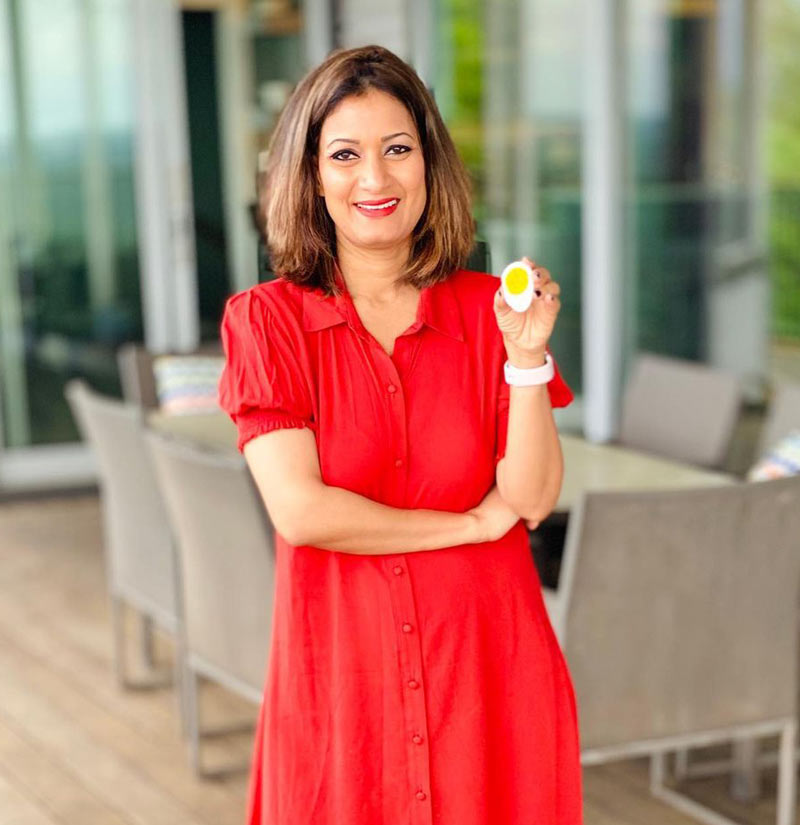 Found and CEO of Craft Counter, Hema Reddy creates first plant-based boiled egg